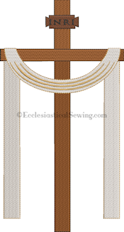Pastor Priest Church Altar Hanging banner Machine Embroidery | Church Vestment Machine Embrodiery Design Ecclesiastical Sewing
