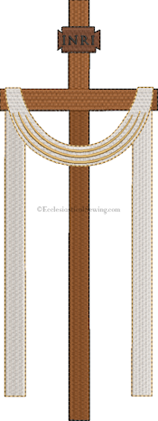 Easter Cross pastor Priest Stoles | Church Vestments Machine Embroidery Design Ecclesiastical Sewing