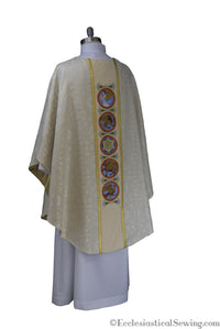 Evangelist Chasuble Priest Chasuble | Priest Vestments Chasubles White Ecclesiastical Sewing