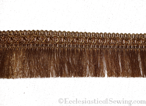 Antique Gold Metallic Thread Fringe
