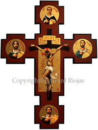 Gospel Crucifixtion Ed Riojas | Liturgical Artwork Print Ecclesiastical Sewing
