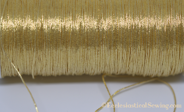 Gilt Smooth Passing Goldwork Hand Embroidery Thread