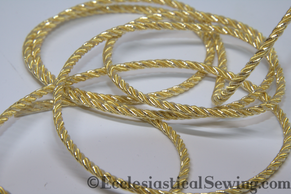 Gilt Grecian Twist Goldwork Thread | Goldwork Metal Threads Ecclesiastical Sewing