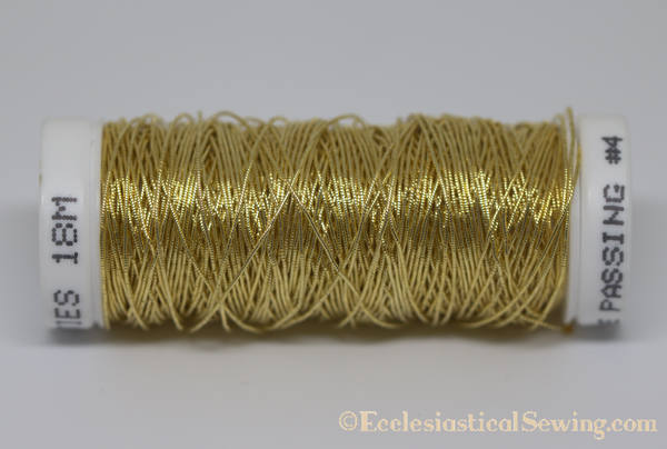 Gilt Smooth Passing #4 Silk Core | Goldwork Embroidery Thread Ecclesiastical Sewing