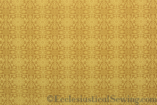Glastonbury Liturgical Brocade Fabric