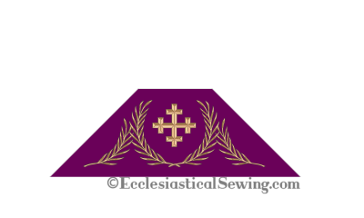 Gloria Advent or Lent Chalice Veil Church Vestment