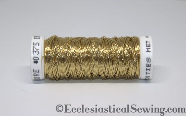 Light Gold Wire Thread #375 | Goldwork Thread hand embroidery Ecclesiasticla Sewing