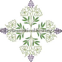 Grape Cluster Embroidery | Digital Machine Embridery Design