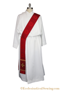 Reformation Deacon Priest pastor Clergy Stole Red Luther Rose Ecclesiastical Sewing