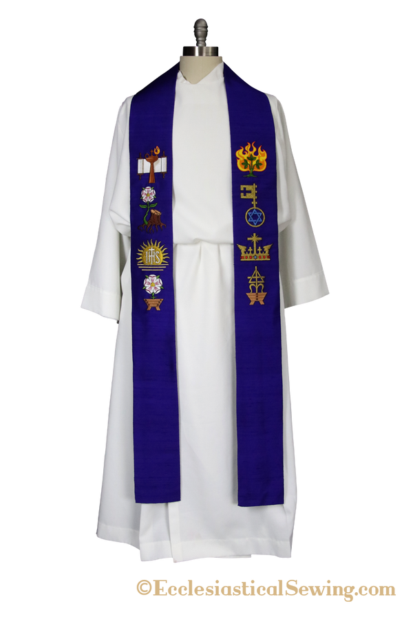 V-Neck Stole in The Great Antiphons of Advent Ecclesiastical Collection