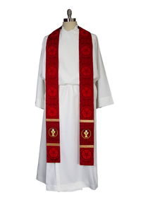 Luther Rose Stole |Pastor and Priest Stole Ecclesiastical Sewing Lutheran Stoles