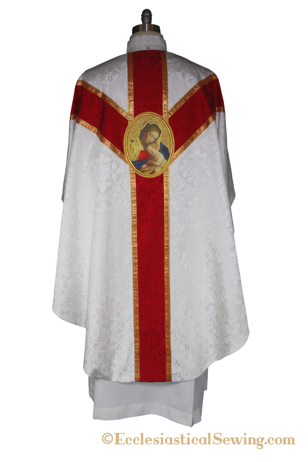 Virgin and Child Chasuble and Low Mass Church Vestment Set