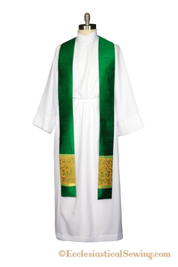 Stole Style #2 in the Saint Gregory the Great Ecclesiastical Collection (QS)