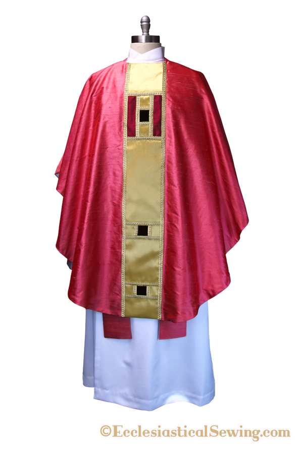 Eglatine Rose Chasuble  and Stole Set Pastor or Priest Church Vestments