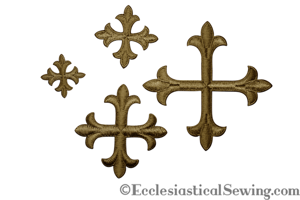 Cross Appliques w/ Iron On Back | Church Appliques, Trims and Notions