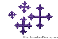 Small Cross Appliques Violet with Iron On Backing