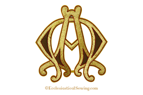 Alpha Omega Goldwork Embroidered Emblem