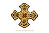 Gold bullion cross applique embroidery goldwork embroidery religions cross church vestments ecclesiastical sewing