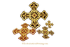 Bullion Gold Jeweled Cross