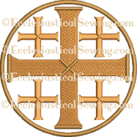 Jerusalem Cross --Religious Machine Embroidery File