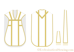 Latin Mass Chasuble Stole Maniple Set Sewing Pattern