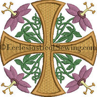 Passion Flower--Religious Machine Embroidery File