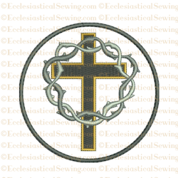 Lent or Good Friday Cross--Religious Machine Embroidery File