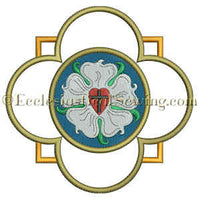 Luther Rose Quatrefoil--Religious Machine Embroidery File