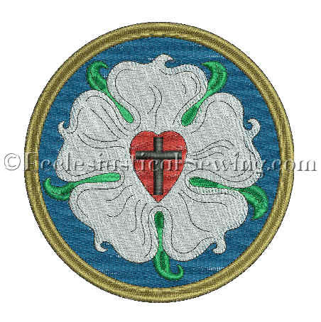 Luther Rose Embroidery Design Applique