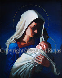 Madonna and child Riojas | Liturgical Art Prints Ecclesiastical Sewing