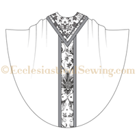 Monastic Chasuble Pattern With Column Orphrey Bands