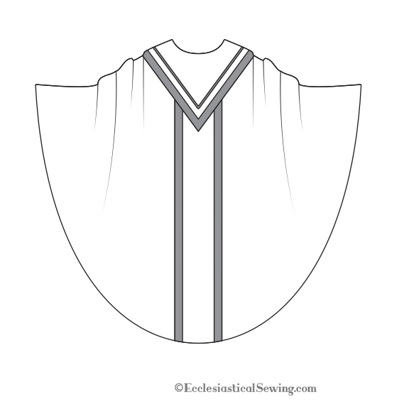 Monastic Chasuble pattern V Yoke | Church vestment pattern Ecclesiastical Sewing