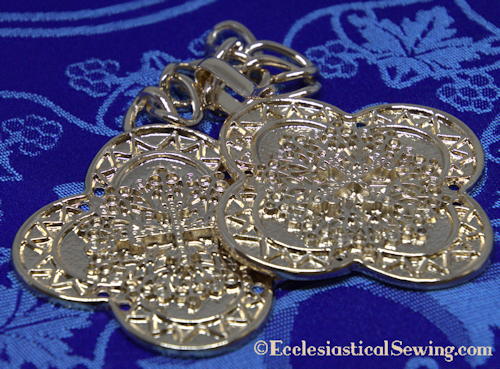 Morse Clasp with with Filigree Cross Design for Priest Copes and Church Vestments
