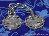 Morse Clasp with Cross and Wreath Design for Priest Copes and Church Vestments