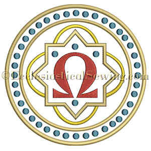 Omega Dot Circle--Religious Machine Embroidery File