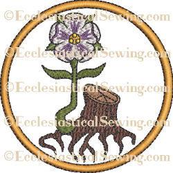 Radix Jesse Rose Rondel Style #2--Religious Machine Embroidery File