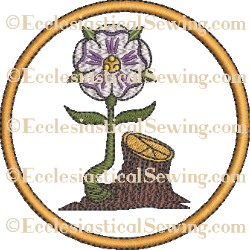 Radix Jesse Rose Rondel--Religious Machine Embroidery File