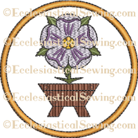 O'Emmanuel Flower Rondel--Religious Machine Embroidery File