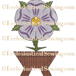 O' Emmanuel Flower--Religious Machine Embroidery File