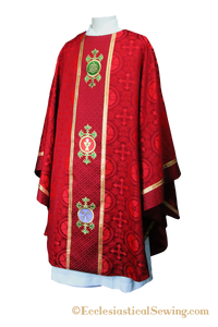 Red Reformation Luther Rose Chasuble | Reformation Chasuble Ecclesiastical Sewing