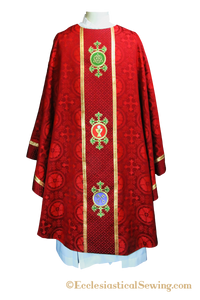 Red Reformation Chasuble | Luther Rose Chasuble Ecclesiastical Sewing