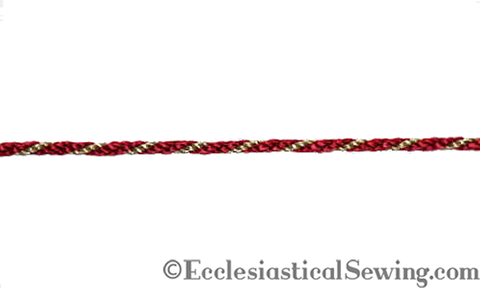 Red Gold Narrow Cord