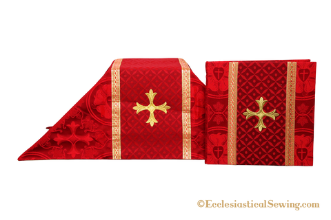 Chalice Veil and Burse | Burse and Veil Set with Iron Cross