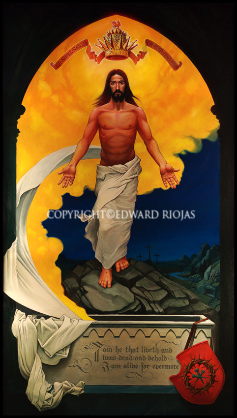 Resurrection Ed Riojas Print | Liturgical Art Print Ecclesiastical Sewing
