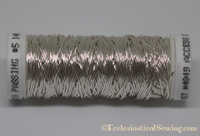Silver Smooth Passing Goldwork Thread | Goldwork Embroidery Thread Hand Embroidery Ecclesiastical Sewing