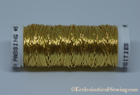 Smooth Passing #5 Non tarnish Gold | Goldwork Threads Hand Embroidery Ecclesiastical Sewing