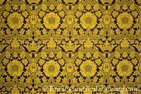 St. Margaret Gold Brocade Liturgical Fabric | Ecclesiastical Sewing