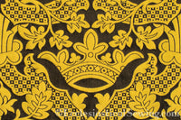 St. Margaret Crown Brocade Liturgical Fabric - Gold | Ecclesiastical Sewing