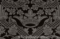 St. Margaret Brocade Liturgical Fabric - Black | Ecclesiastical Sewing
