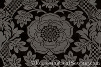 St. Margaret Black Brocade Liturgical Fabric | Ecclesiastical Sewing